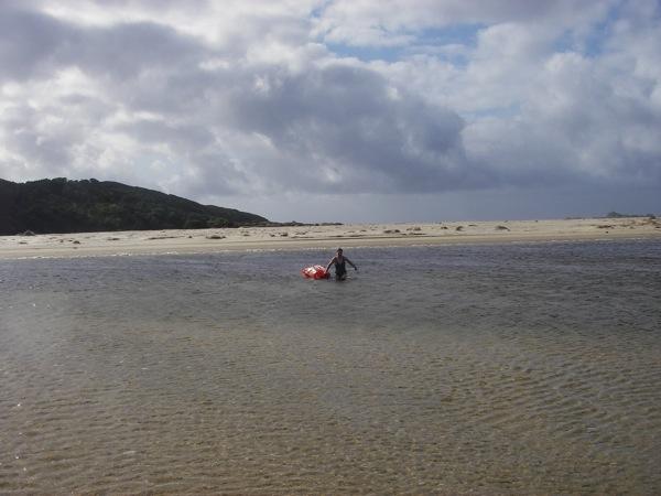 Jan Swimming across