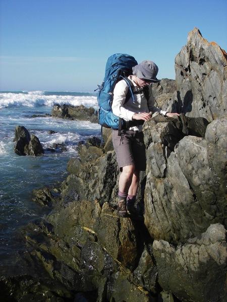 Jan scaling rocks